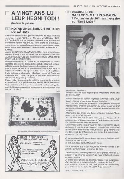 Anniversaire lnl 1994 01