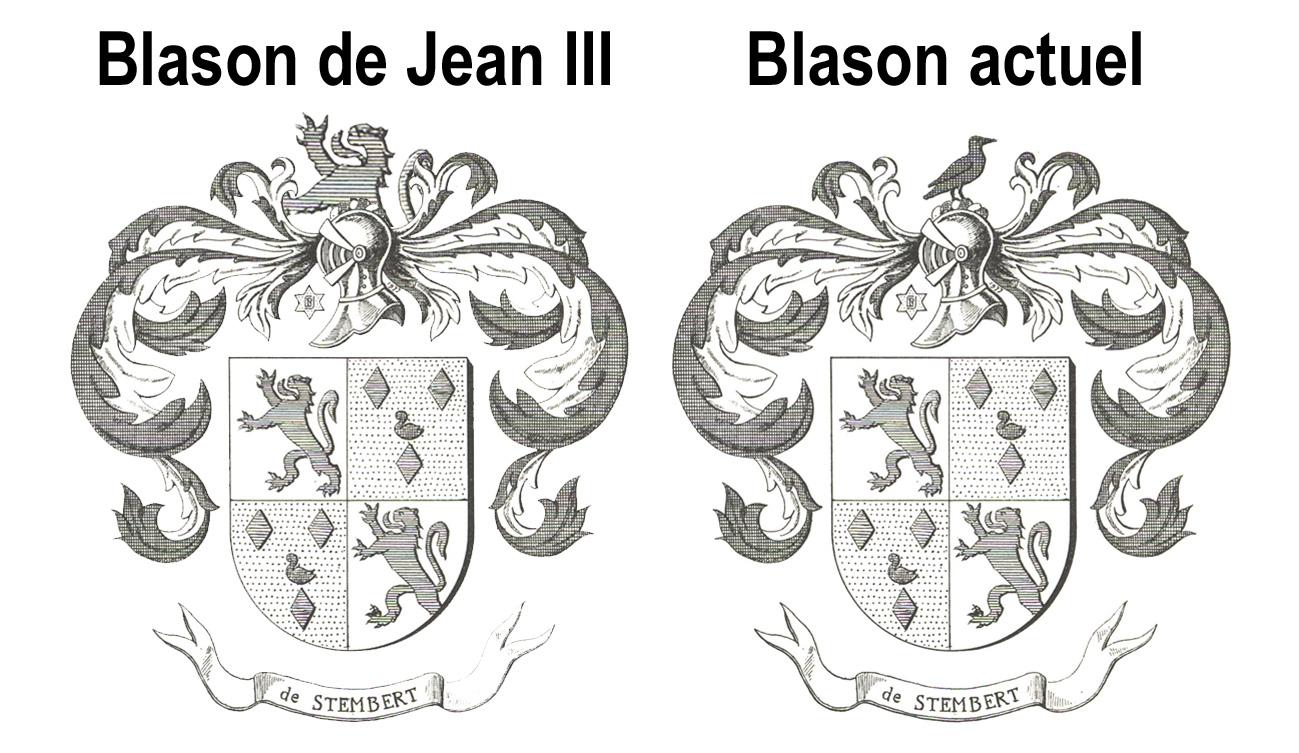 Blason comparatif jean 3 et actuel