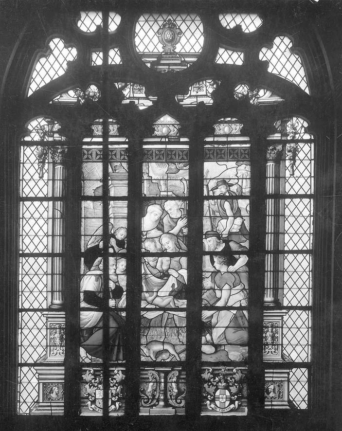 Eglise saint servais vitrail de stembert adoration des bergers 01